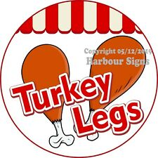 Turkey Legs DECAL (Choose Your Size) Concession Food Truck Vinyl Circle Sticker
