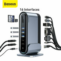 Baseus Type C HUB Splitter USB3.0 RJ45 HDMI VGA Docking Station für MacBook Pro