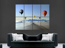 HOT AIR BALLOONING MOUNTAINS SKY  ART IMAGE HUGE  LARGE PICTURE POSTER GIANT