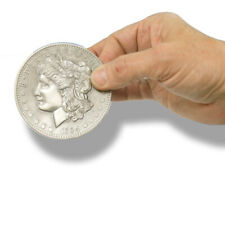 "Metal Jumbo 3"" Morgan Silver Dollar Coin Finale Misers Dream Prop Gimmick Big"