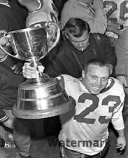 CFL 1966 Roughrider HOF Ron Lancaster with Cup Black & White 8 X 10 Photo