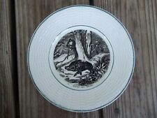 DIGOIN SARREGUEMINES Plate Beaten With Boars Scene Black Transfer 7-1/8 France