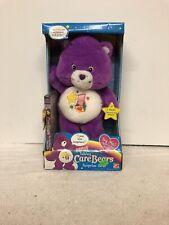 NIB Talking Surprise Bear 2004 Care Bears Purple Plush with DVD Jack in the Box.
