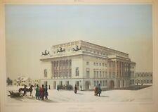 "RUSSIE ST PETERSBOURG - ""THEATRE ALEXANDRA, Newski"" Lithographie 19ème A. DURAND"