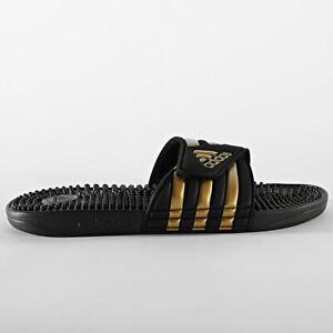 [EG6517] Adidas ADISSAGE Black/Gold Men's Slides Sandals *NEW*