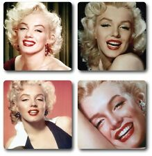 Marilyn Monroe Coasters - Set of 4 - High quality compressed hardwood backed
