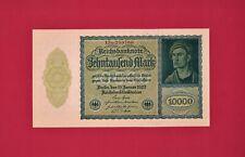 ULTRA-RARE AUNC+ (1st Issue) 10K Mark 1922 Reichsbanknote PRIVATE ISSUE (P-72/3)