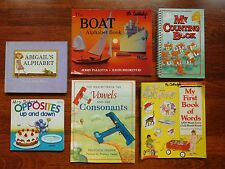 Lot of 6 Children's Alphabet,Counting,Opposites & More Picture Books