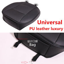 Single Piece Black PU Leather Car Front Seat Cushion Pad Protector Mat Cover