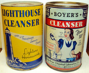 Vintage Lighthouse Cleanser & Boyer's Cleanser Unopened Containers