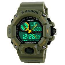 Militär Uhr S-Shock Sport-2 Zeitzonen Zeiten-Chrono-Wecker-grün Militär