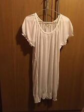 Ladies white tunic top size 10