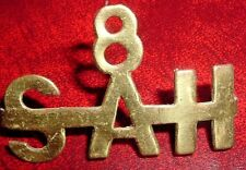 SHOULDER TITLE-ORIGINAL WW1 SOUTH AFRICAN 8th S.A.HORSE  8-SAH WORN 1916-18