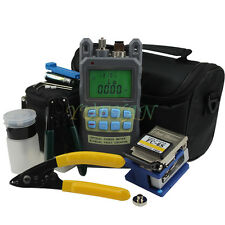 8In1 Fiber Optic FTTH Tool Kit FC-6S Fiber Cleaver and 2 in1 Optical Power Meter