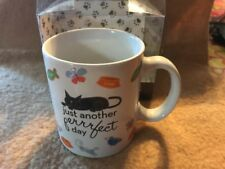 "Bw Boston Warehouse Purrr-fect 12 Oz. Mug, Black Cat ""Just Another perfect Day�"