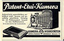 Kamera- Werkstätten Guthe & Thorsch Dresden A. Patent- Etui- Kamera von 1929