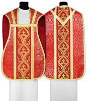 Pianeta Rossa con stola R023-C14 Casula Romana Paramento liturgico VARI COLORI
