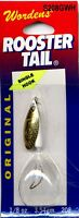 NEW Rooster Tail White Body & Tail Gold Blade Spinners Choice of Size & Quantity