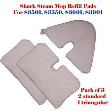3 Assorted Steam Mop Replacement Pocket Pads For Shark S3501 S3601 S3901 S3550