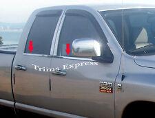 2002-2003 Dodge Ram Quad Cab 4Pc Window Sill Trim Stainless Steel Overlay