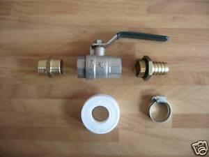 3/4 Inch BSP Water / Oil / Fuel Tank Valve / Tap Kit