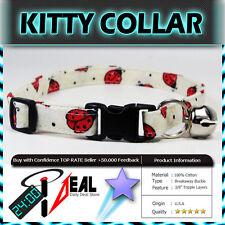 Safety  CAT KITTEN  Breakaway Collar ~ White Ladies Bugs ~