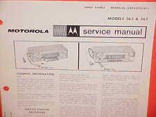 1965 DODGE MONACO 880 CHRYSLER 300 CONVERTIBLE MOTOROLA AM RADIO SERVICE MANUAL