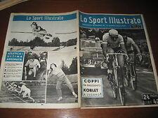 LO SPORT ILLUSTRATO GAZZETTA 1951/42 FAUSTO COPPI KOBLET RUGBY MILANO BOLOGNA @