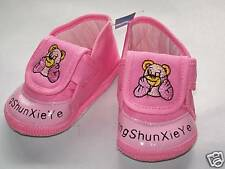 New infant/Baby Bear soft crib shoes, pink, 6-12months