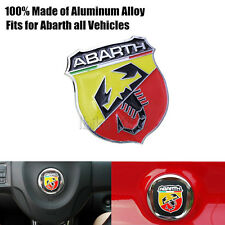 3D Alloy  Emblem Badge Sticker Decal for Abarth Fiat 500 695 Punto Brava Bravo