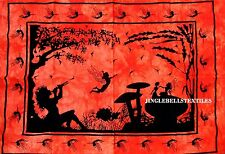"Traditional Mushroom Fairy Poster 30x40"" Ethnic Cotton Hanging Hippie Wall Art"