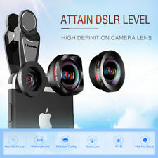 3 in 1 Photo Clip For Smartphone Wide Angle Fisheye Macro Universal Lens iPhones