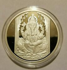 one ounce ganesh imgraved silver coin