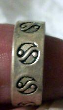 Adjustable Toe Ring Look 3x Vintage Sterling Silver
