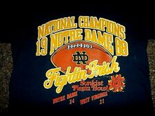 1988 SUNKIST FIESTA BOWL WEST VIRGINIA VS NOTRE DAME NATIONAL CHAMPIONS T-SHIRT!