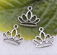 Wholesale 20pcs Tibet Silver beautiful silver crown charms pendant 15x16mm#A5428