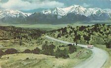 Postcard Colorado Snow Capped Rockies