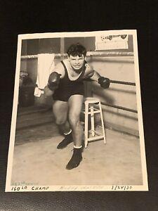 Clean Original 1930, Mickey Walker Type 1 Boxing Photo Mint Fight Pose P4P Greta