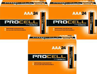 NEW DURACELL PROCELL AAA ALKALINE BATTERIES SEVENTY-TWO (72) PER BOX