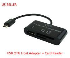 USB OTG Host Adapter Micro SD Card Reader for Samsung Galaxy Tab 3 Pro 10.1 8.4