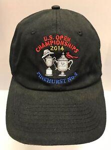 US Open 2014 Pinehurst No 2 Golf Hat Cap USGA Member NC Men OSFA Black