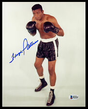 FLOYD PATTERSON CERTIFIED AUTHENTIC AUTOGRAPHED SIGNED 8X10 PHOTO BECKETT 153167