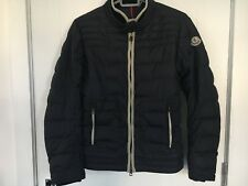 MONCLER GENUINE SIZE 0 XS MENS BOYS NAVY BLUE BIKER STYLE JACKET GOOD CONDITION