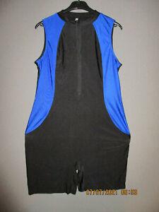 Damen Body Badeanzug Bodysuit mit Bein Overall Bademode Schwimmanzug Gr.XL NEU