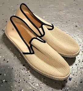 Rivieras Les Champs Mens Beige Espadrille Shoes - 43 Uk 9.5-10 UD