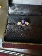 Tru diamonds Sapphire And Diamonds Ring Size L