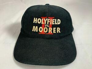 Evander Holyfield vs. Michael Moorer 2 hat baseball cap BOXING vintage SnapBack