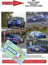 DECALS 1/24 REF 941 SUBARU IMPREZA WRC VOUILLOZ RALLYE LYON CHARBONNIERES 2005