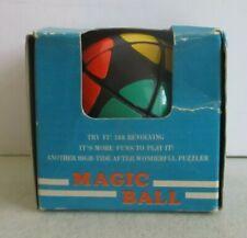 MAGIC BALL RARE VINTAGE PUZZLE TOY - RUBIK'S CUBE STYLE SPHERE W/BOX