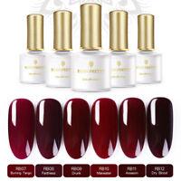 6 pcs/set Deep Red UV Gellack UV LED Lamp Long Last Varnish BORN PRETTY Wine Red